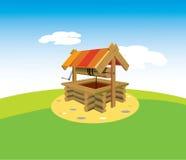 Välla fram i byn royaltyfri illustrationer
