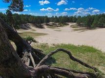Landskap med den sandiga krater Arkivbild