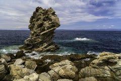 Landskap med en härlig hav-kust bild Royaltyfri Fotografi