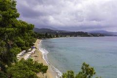 Landskap med en härlig hav-kust bild Arkivfoton