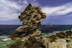 Landskap med en härlig hav-kust bild Royaltyfri Bild