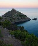 Landskap med en udde Kapchik royaltyfri fotografi