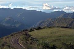 Landskap med en väg Arkivfoton