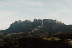 Landskap med ett berg royaltyfria bilder