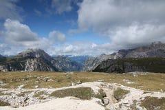 Landskap med ett berg, Italien Fotografering för Bildbyråer
