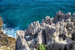 landskap med havkusten i Asturias, Spanien Arkivfoton