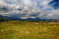 landskap med havkusten i Asturias, Spanien Royaltyfri Bild