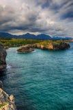 landskap med havkusten i Asturias, Spanien Royaltyfri Fotografi