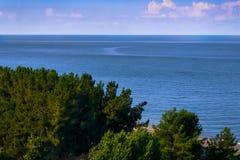 Landskap med havssikter abkhazia pitsunda Royaltyfria Foton