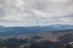 Landskap med helikoptern royaltyfri fotografi
