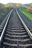 Landskap med järnvägen royaltyfri fotografi