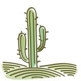 Landskap med kaktusen Arkivbild