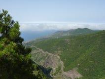 Landskap med moln arkivfoto