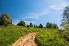 Landskap med perfekt himmel Arkivfoton