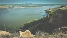 Landskap med sjön i Toledo Spain Royaltyfri Bild