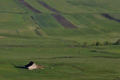 Landskap med stallet Arkivbild