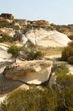 Landskap med stora stenar Royaltyfria Bilder