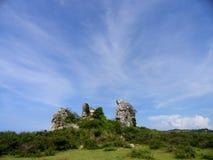 Landskap med vaggar royaltyfri foto