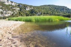 Landskap nära Cala Luna, Sardinia, Italien Royaltyfri Fotografi