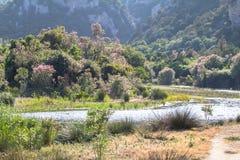 Landskap nära Cala Luna, Sardinia, Italien Royaltyfri Foto