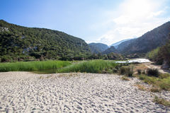 Landskap nära Cala Luna, Sardinia, Italien Royaltyfri Bild
