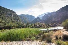 Landskap nära Cala Luna, Sardinia, Italien Royaltyfria Bilder