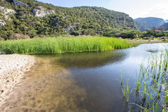 Landskap nära Cala Luna, Sardinia, Italien Arkivfoto