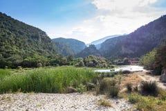 Landskap nära Cala Luna, Sardinia, Italien Arkivfoton