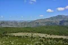Landskap nära Dubrovnik Arkivfoton