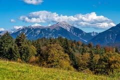 Landskap nära Garmisch Partenkirchen i Bayern, Tyskland arkivfoton
