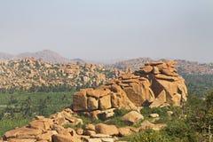 Landskap nära Hampi Royaltyfria Foton