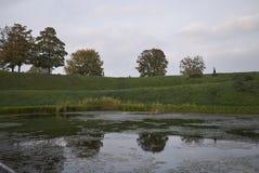 Landskap nära kastelleten royaltyfri bild