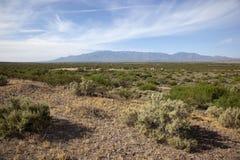 Landskap nära Safford, Arizona arkivfoton