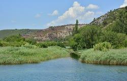 Landskap nära Skradin Royaltyfri Bild