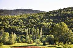 Landskap nära Studenci stämma överens områdesområden som Bosnien gemet färgade greyed herzegovina inkluderar viktigt, planera ut  Royaltyfria Bilder