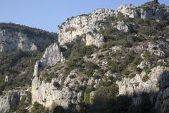Landskap nära Venasque, Senanque och Gordes byar, Luberon; Royaltyfri Bild