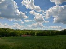 Landskap nära vid Prague arkivbild