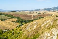 Landskap nära Volterra (Tuscany) royaltyfria foton