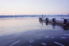 Landskap natur, vinter, stående Royaltyfria Bilder