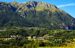 Landskap norr Italien royaltyfri fotografi