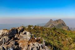 Landskap och landskap vandringen i Thailand Arkivbilder