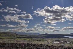 Landskap och moln i Island Royaltyfria Bilder