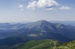 Landskap och skog för Carpathian berg Royaltyfri Fotografi