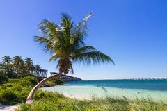 Landskap på Bahia Honda Beach Royaltyfri Bild