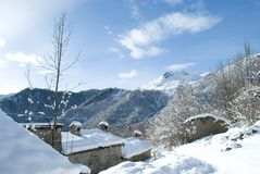 Landskap på berget Royaltyfria Foton