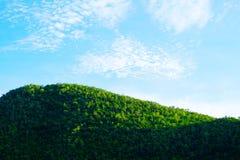 Landskap på berget med himmel Royaltyfri Bild