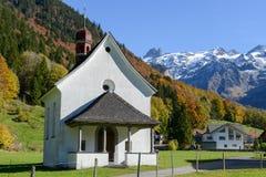 Landskap på byn av Engelberg på Schweiz Arkivbild