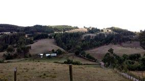 Landskap på Carahues stad - Chile Arkivfoton