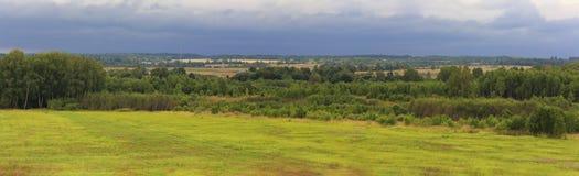 Landskap på den Borodino slagfältet, Mozhaysk royaltyfri foto