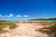 Landskap på den karibiska tropiska ön Arkivfoton